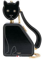Thom Browne Embroidered Cat Bag Women Calf Leather One Size Black