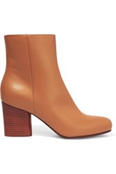 Maison Martin Margiela Leather Ankle Boots Tan