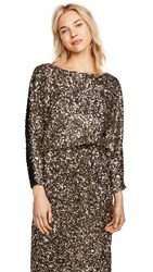 Loyd Ford Sequin Sweater Black Gold