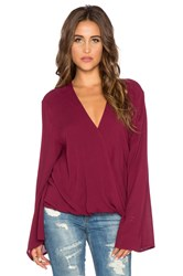 Blue Life Long Sleeve Hayley Top Burgundy