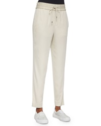 Helmut Lang Resolve Drawstring Ankle Pants Savannah