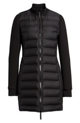 Marc New York Puffer Coat With Puff Knit Sleeves Black