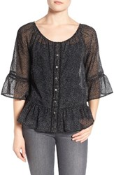 Wit And Wisdom Women's Flounce Sleeve Top