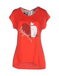 Desigual Topwear T Shirts Women Red