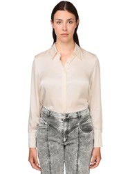 Marina Rinaldi Silk Satin Shirt White