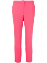 Escada Tailored Slim Fit Trousers Pink