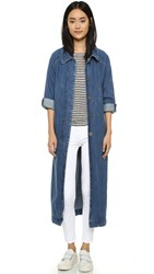 M.I.H Jeans Raglan Denim Coat Stone Blue