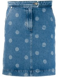 Paul Smith Ps Polka Dot Mini Skirt Blue