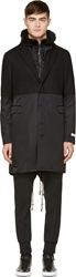 Robert Geller Black Hybrid Oliver Coat