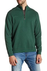 Tommy Bahama Flip Side Twill Half Zip Reversible Pullover Green