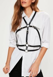 Missguided Black Metal Ring Harness
