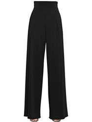 Emporio Armani Stretch Viscose Tricotine Wide Leg Pants