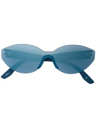 Yeezy Oval Sunglasses Blue