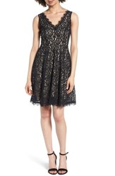 Soprano Lace Fit And Flare Dress Black
