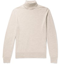 Connolly Goodwood Merino Wool Rollneck Sweater Neutrals