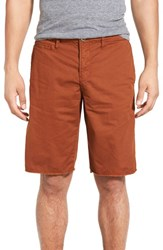 Original Paperbacks Men's 'St. Barts' Raw Edge Shorts Rust