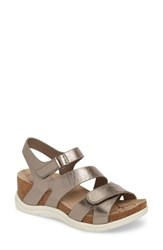 Bionica Passion Wedge Sandal Anthracite Metallic Leather