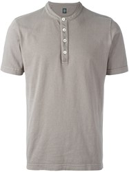 Eleventy Henley T Shirt Nude And Neutrals