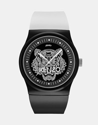 Kenzo Watch With Tiger Head Black