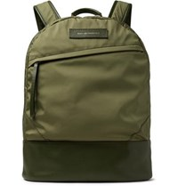 Want Les Essentiels Kastrup Leather Trimmed Nylon Backpack Army Green