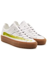 Oamc Patch Leather Sneakers White