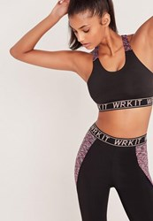 Missguided Active Wrk It Sports Bra Black