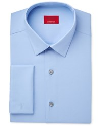 Alfani Men's Slim Fit Stretch Sky Blue Solid French Cuff Dress Shirt Only At Macy's