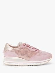 Crime London Dynamic Trainers Pink Leather
