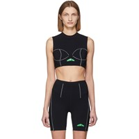 Heron Preston Black Active Crop Tank Top