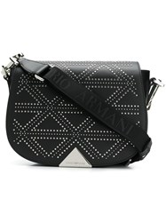 Emporio Armani Micro Studs Shoulder Bag Black