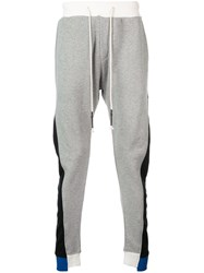 Mostly Heard Rarely Seen Asymmetrical Seam Track Trousers Grey
