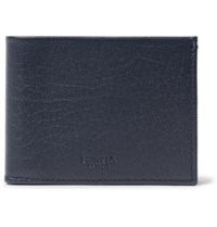 Shinola Textured Leather Billfold Wallet Navy