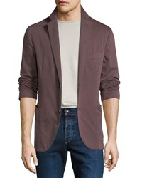 Culturata Garment Washed Patched Jacket Maroon