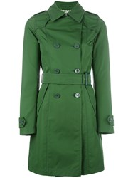 Herno Double Breasted Coat Green