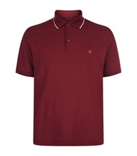 Z Zegna Logo Crest Polo Shirt Male Red
