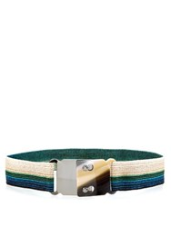 Missoni Striped Elasticated Waist Belt White Multi