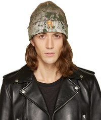 11 By Boris Bidjan Saberi Green Camo Wash Beanie
