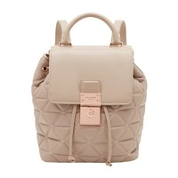 Ted Baker Gaile Quilted Leather Backpack Taupe