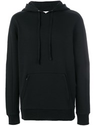 Les Benjamins Pouch Pocket Hoodie Cotton Black