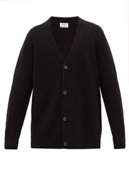 Acne Studios Kabelo Wool Blend Cardigan Black