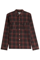 Zadig And Voltaire Plaid Cotton Button Down Multicolor