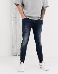 Jack And Jones Intelligence Liam Skinny Jeans In Blue