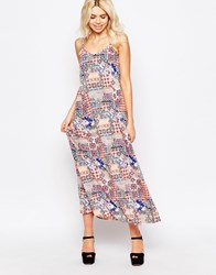 Influence Printed Cami Swing Maxi Dress Multi