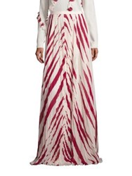 Tory Burch Lucea Maxi Skirt New Ivory Red