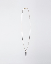 Isabel Marant Wood Horn Necklace Black