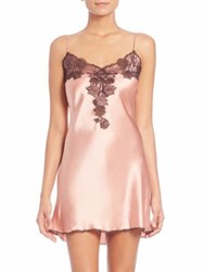 Josie Natori Lolita Silk Chemise Red Plum Blue Rose