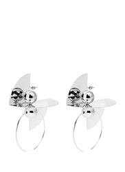 Toga Archives 'Symbolic' Ball Hoop Brass Plate Earrings Metallic