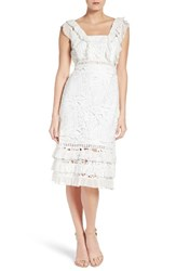 Sachin Babi Women's And Noir Marguerite Georgette And Lace Dress