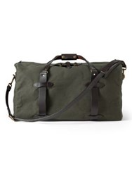 Filson Bridle Leather Duffel Bag Brown Navy