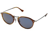 Persol 0Po3046s Havana Gunmetal Light Blue Fashion Sunglasses Brown
